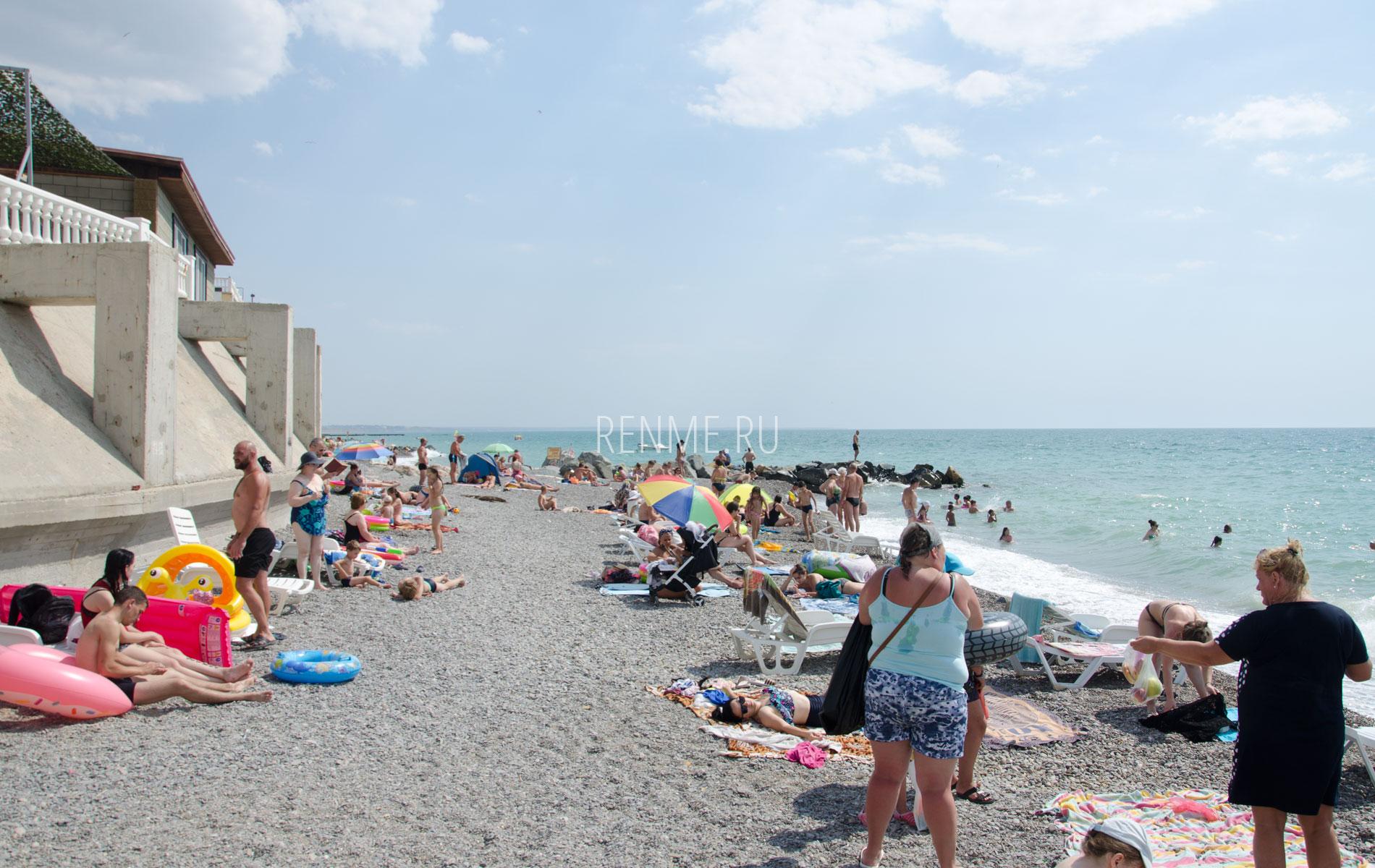 Крымский пляж сейчас 2019. Фото Николаевки