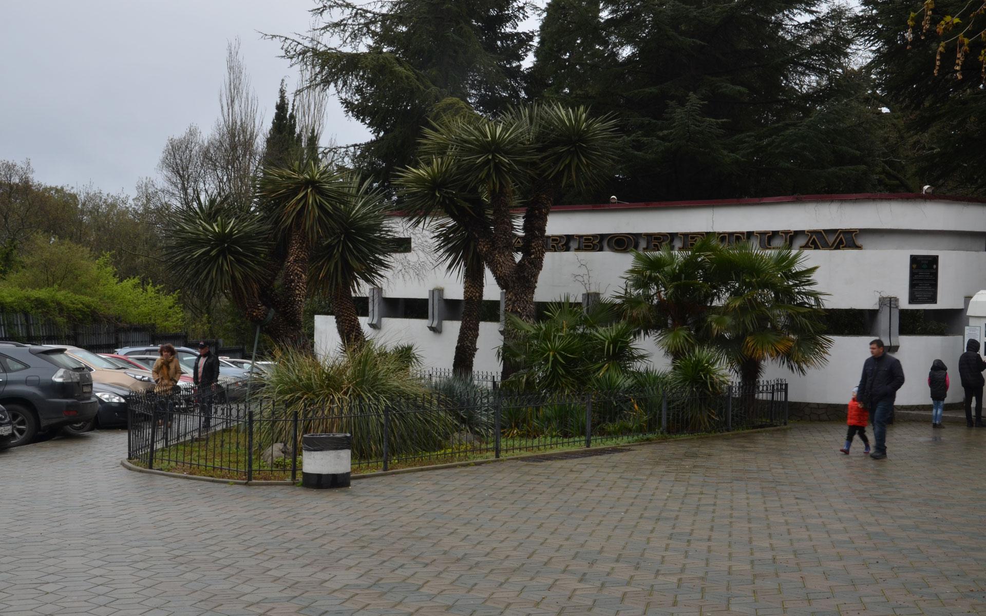 Перед Никитским ботаническим садом. Фото Никита
