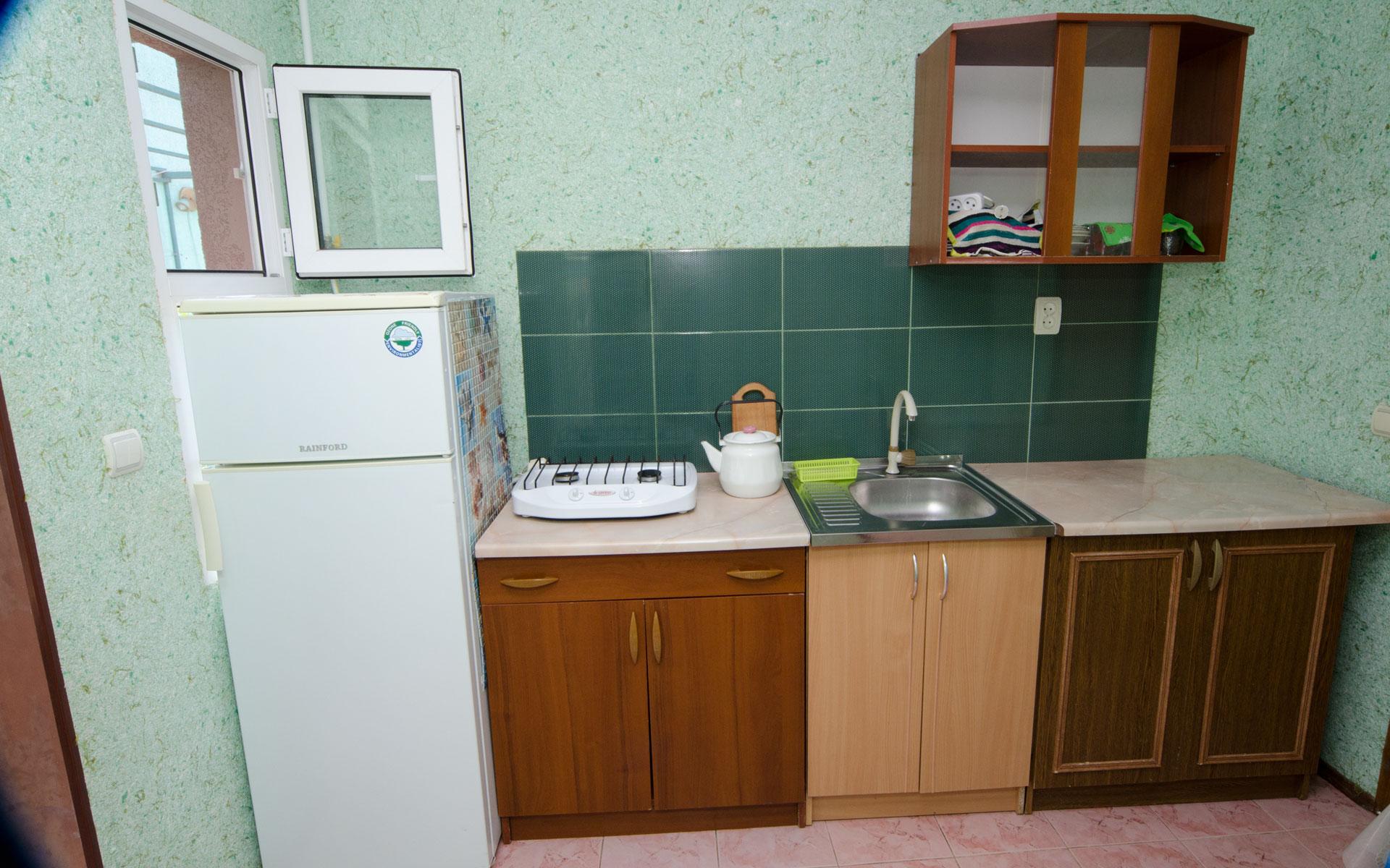 Кухня. Лебеди. Апарт-отель на 8 квартир. Заозёрное