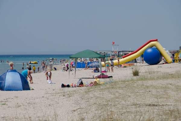 Белый песочный пляж. Фото Штормового
