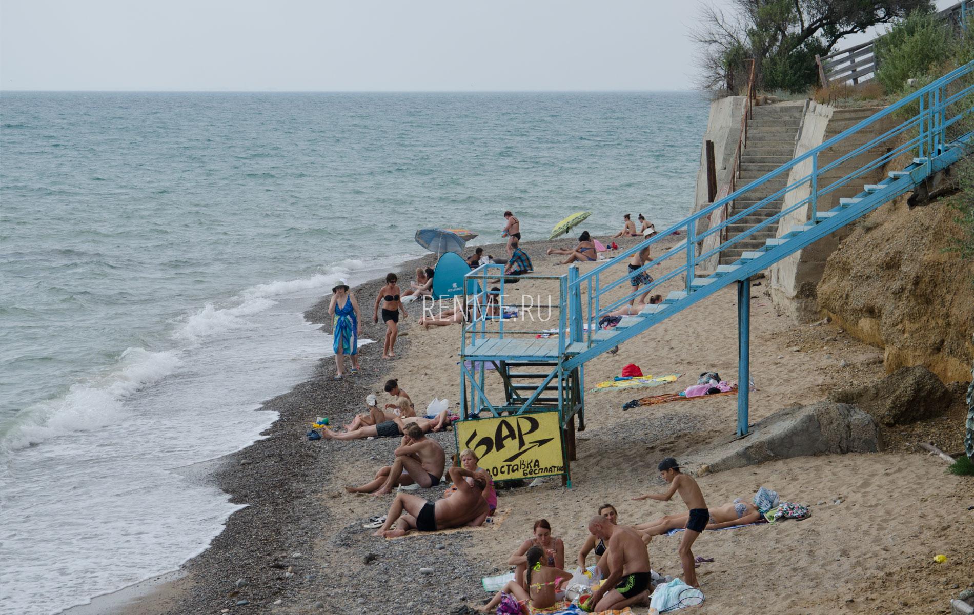Спуск к морю в Николаевке. Фото Николаевки