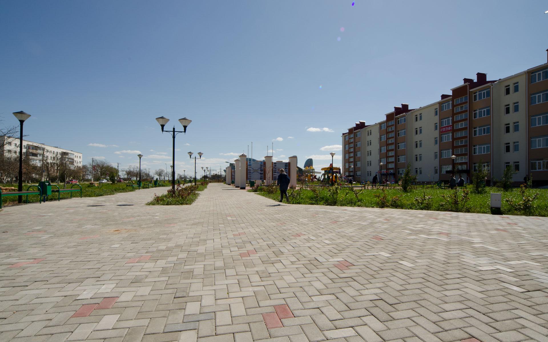 Сквер авиаторов. Фото Мирного