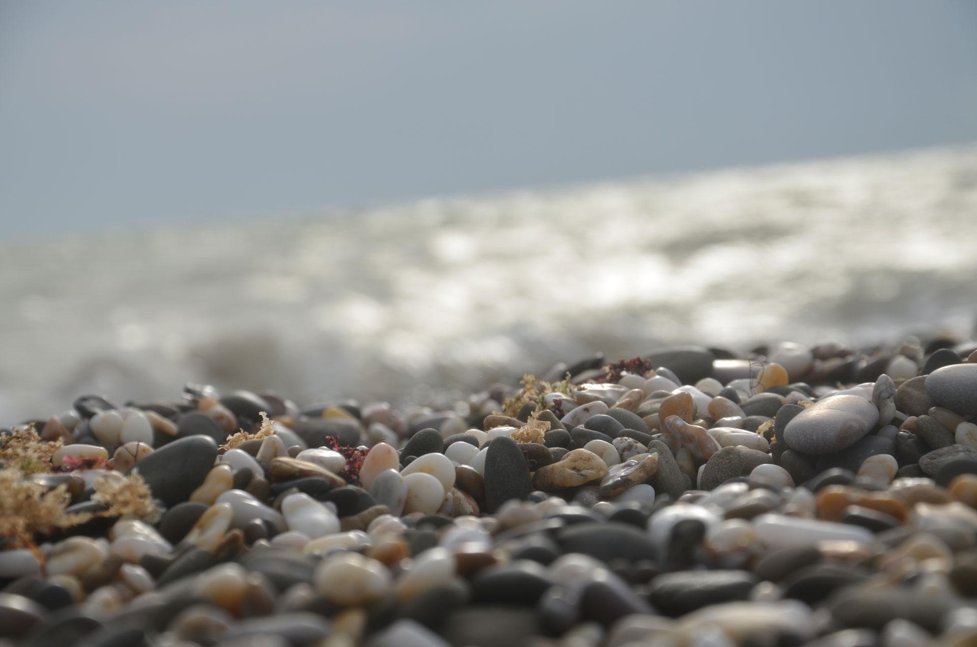 Галька на диком пляже 2019. Фото Евпатории