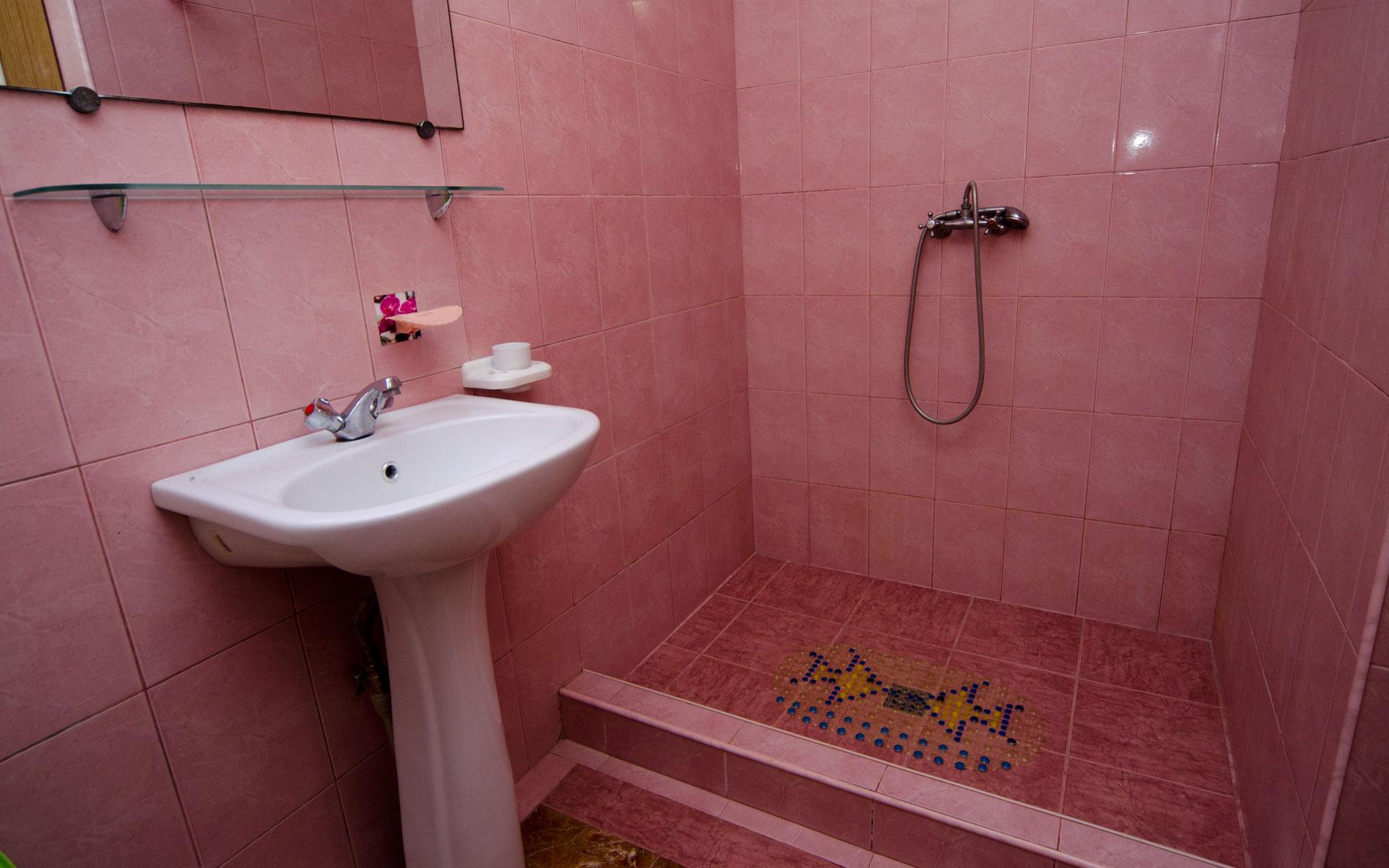 Туалет, душ. Квартира 1. 2 квартиры на ул. Гайдара. Заозёрное
