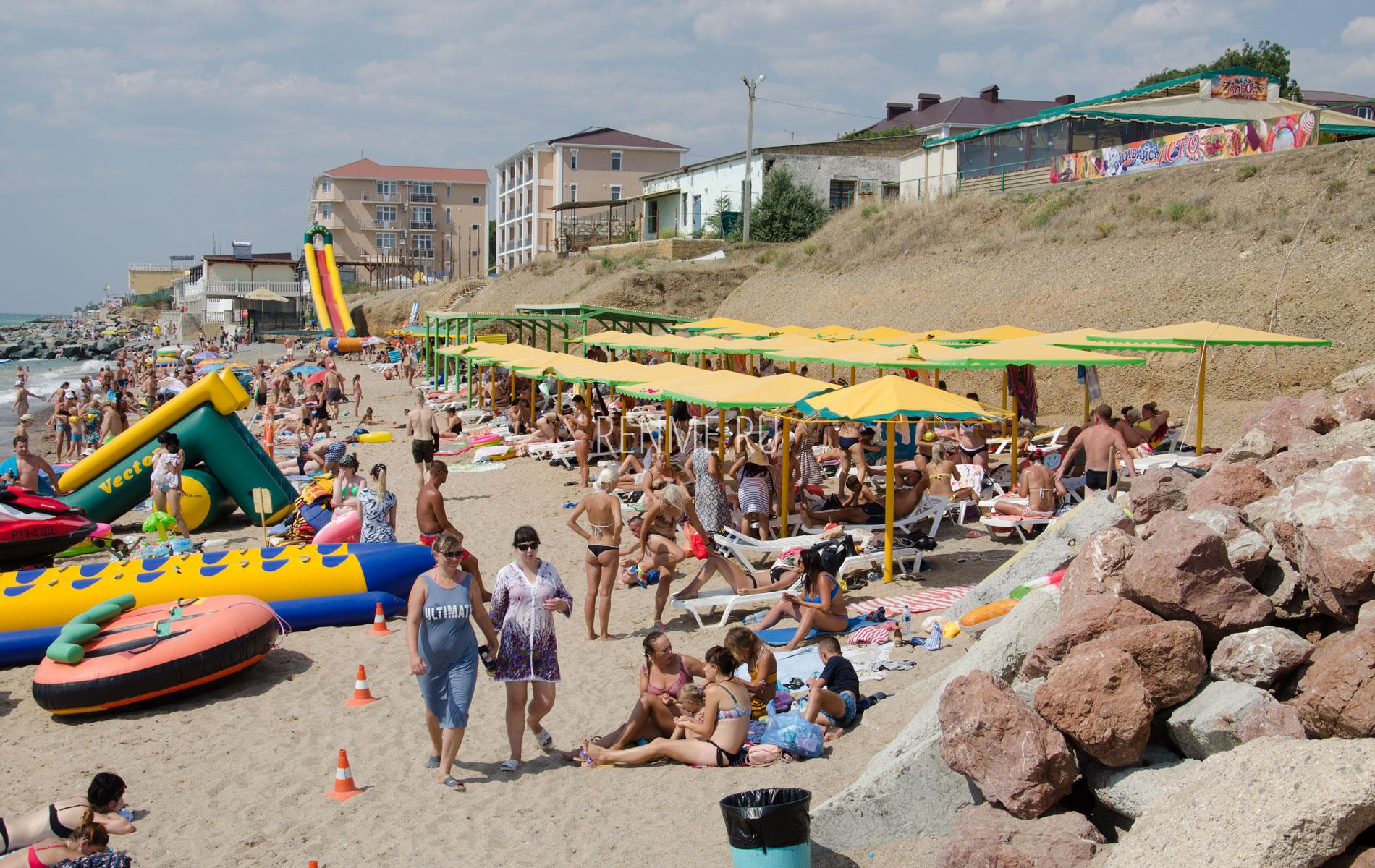 """Пляж """"Горняк"""" летом. Фото Николаевки"""