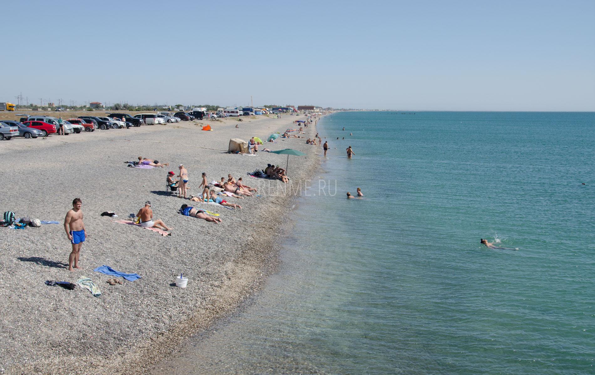 Западный берег Крыма в сентябре 2019. Фото Евпатории