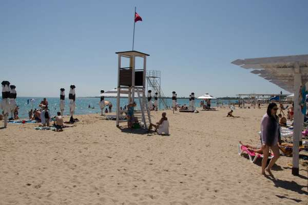 Пляж Алмазный. Пляжи Евпатории