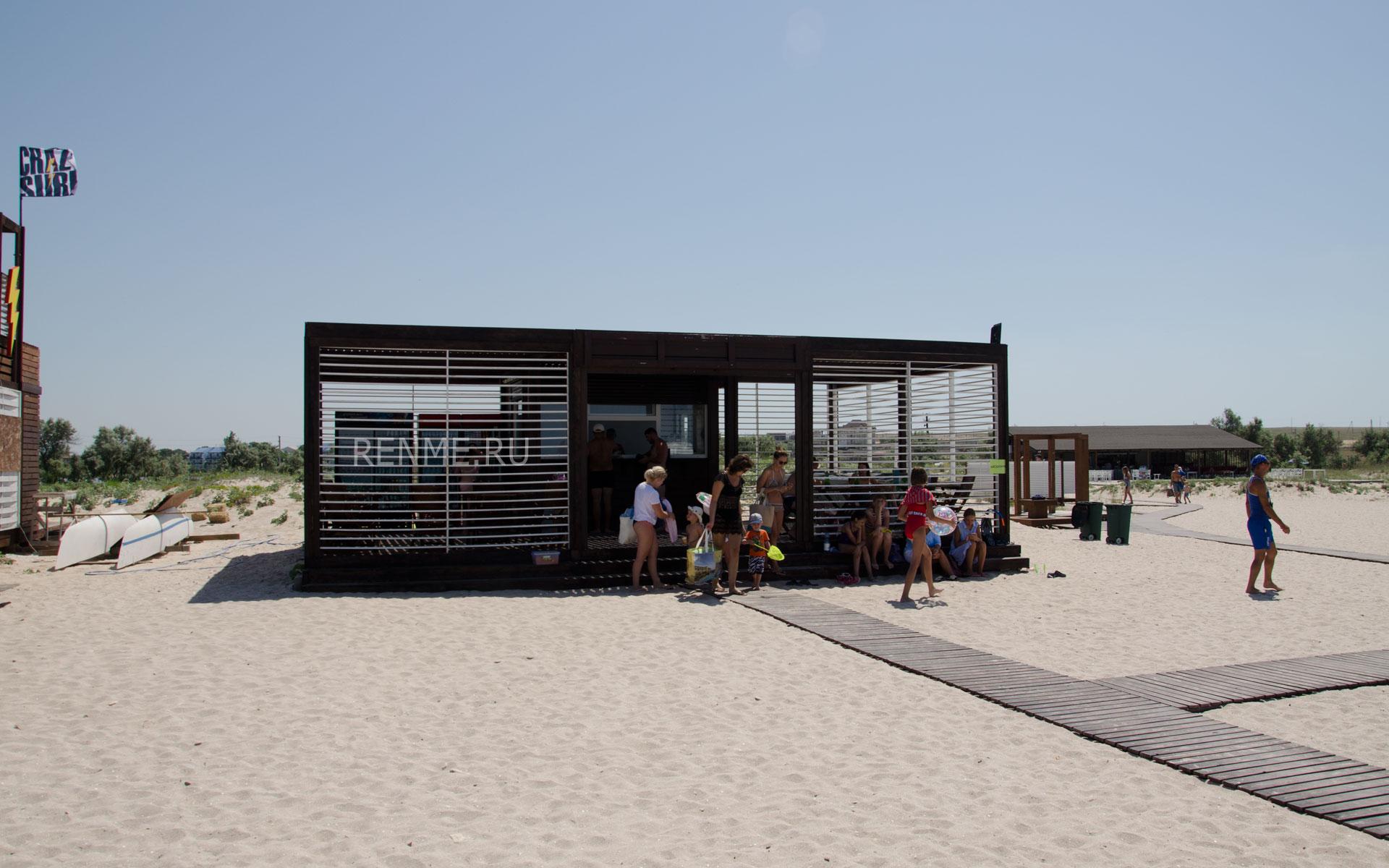 Кафе на пляже SUNSET. Фото Оленевки