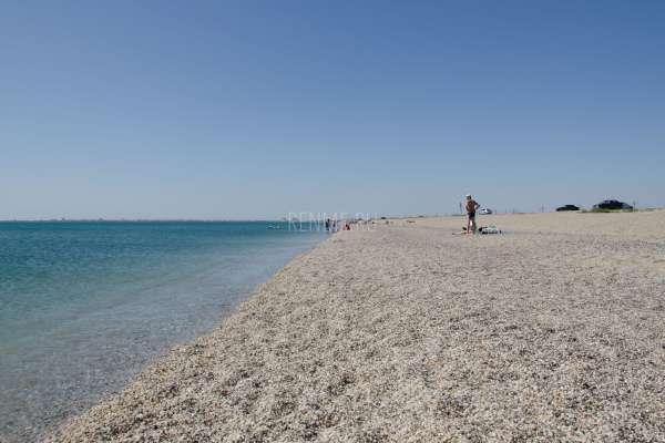Дикий галечный пляж в сентябре 2019. Фото Евпатории