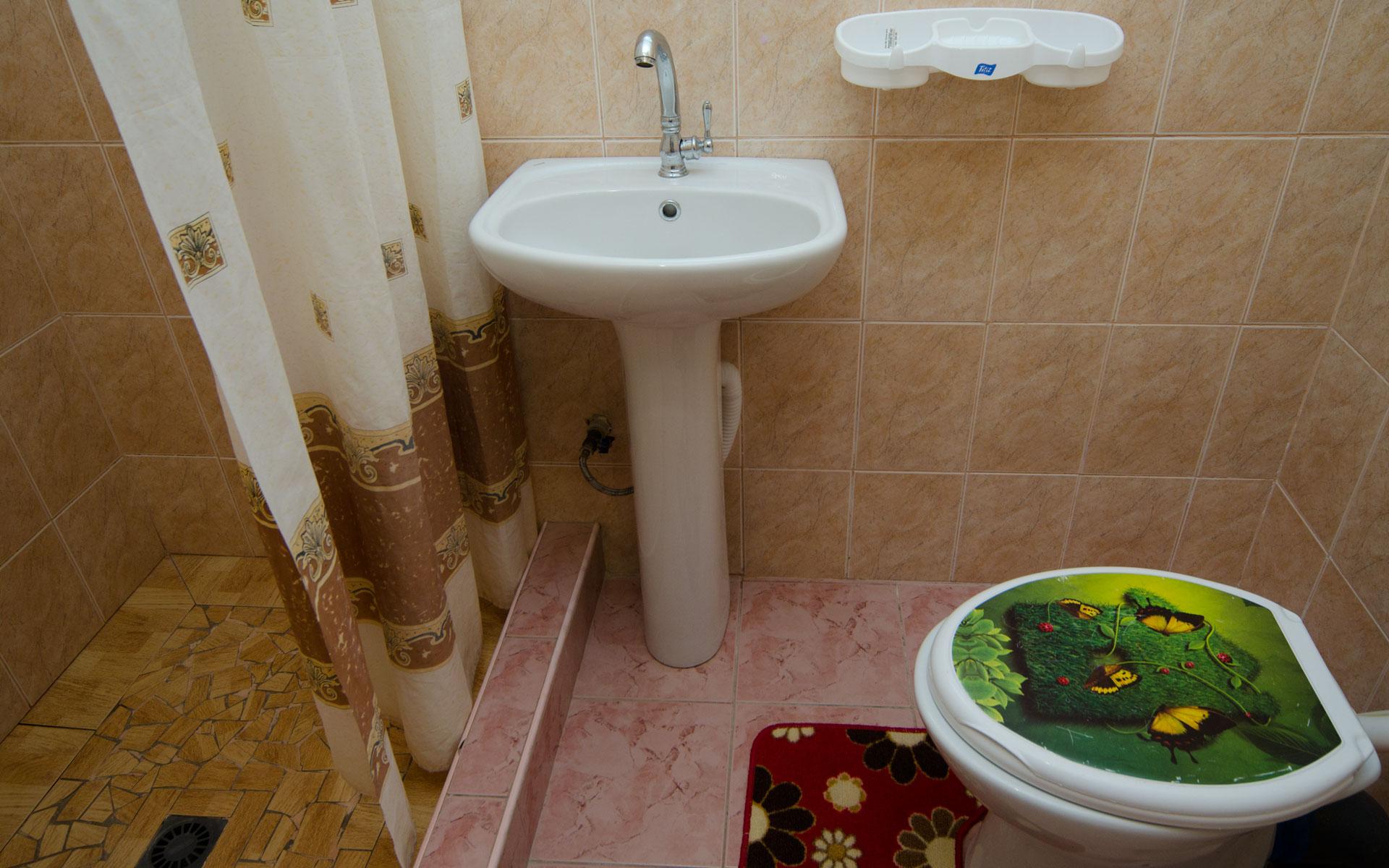 Душ, туалет. Море. Апарт-отель на 8 квартир. Заозёрное
