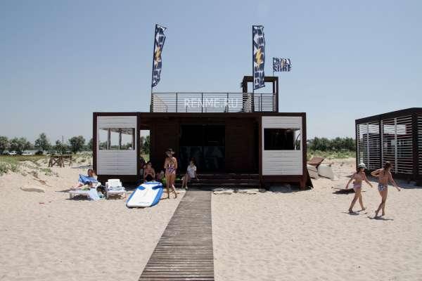 пляж SUNSET в Оленевке. Фото Оленевки
