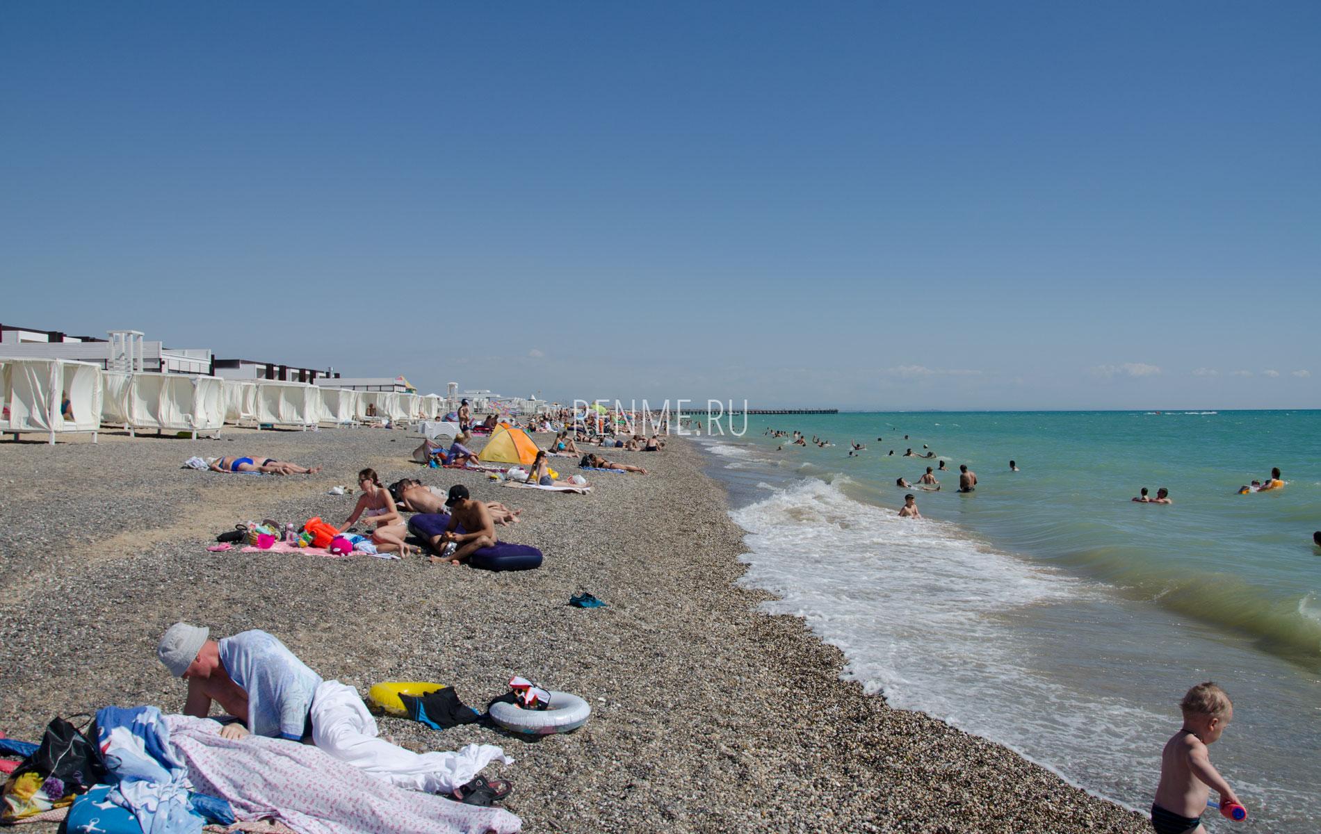 Лучший пляж лето. Фото Новофедоровки