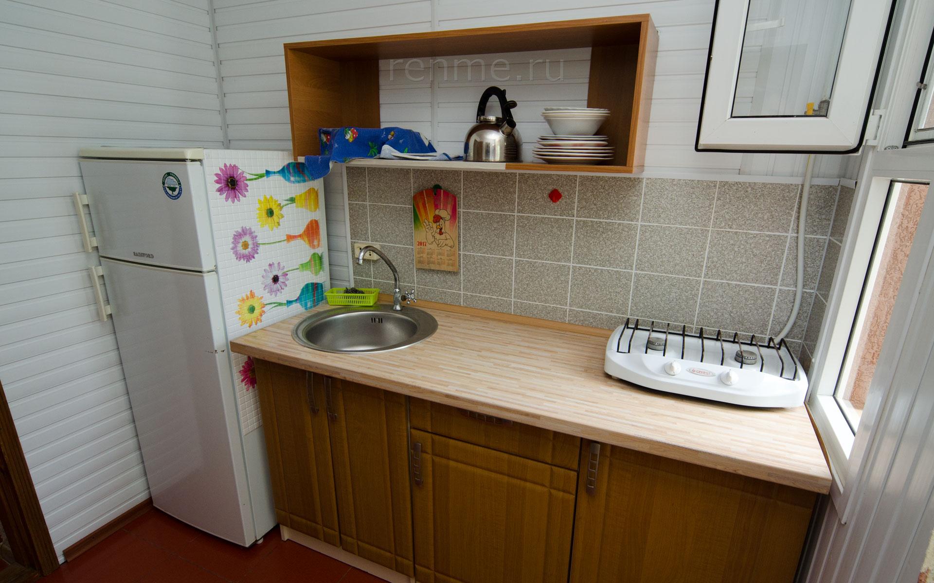 Кухня. Ландыши. Апарт-отель на 8 квартир. Заозёрное