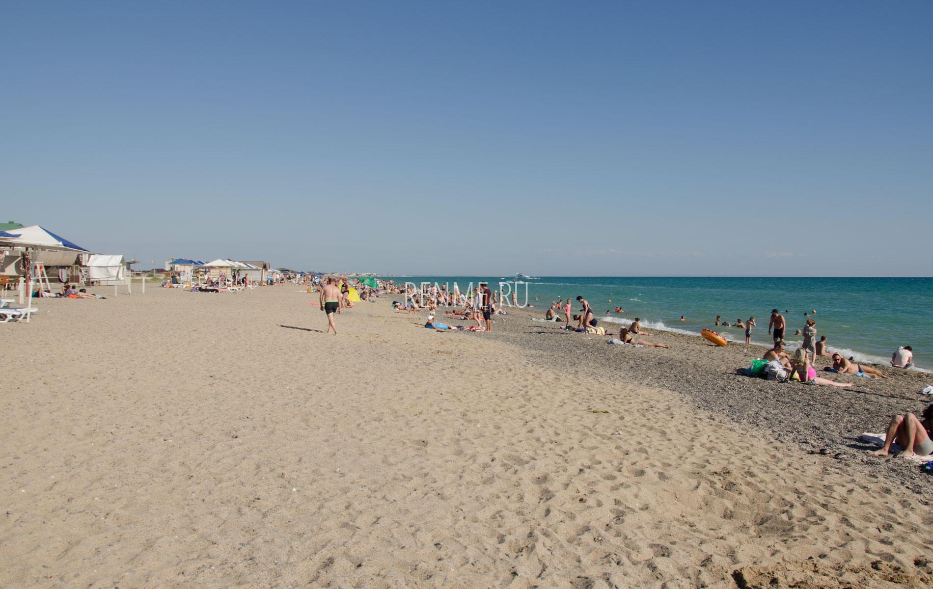 Песочный пляж. Фото Прибрежного