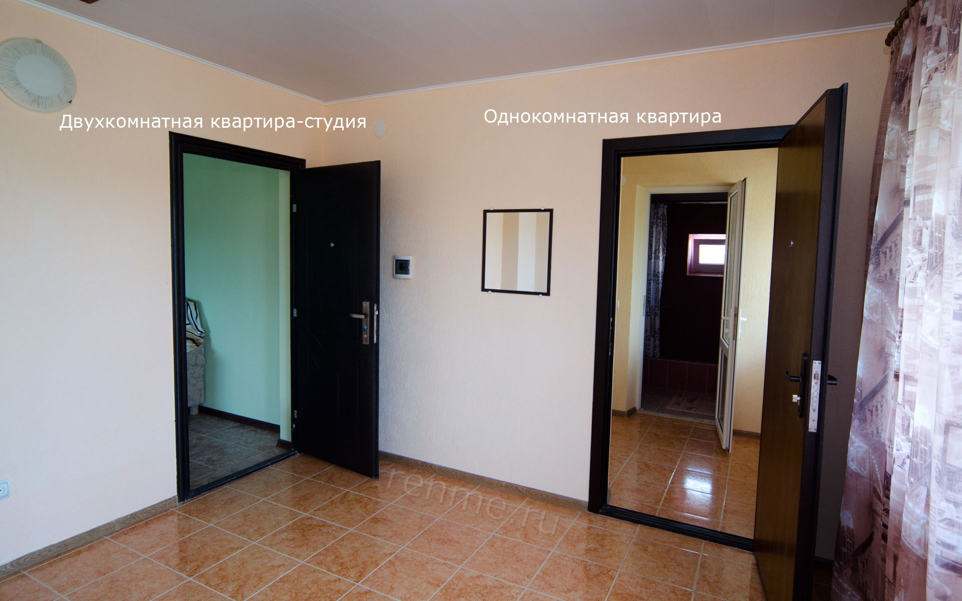 Холл. Двухкомнатная квартира-студия. Апарт-отель на ул. Гайдара. Заозёрное