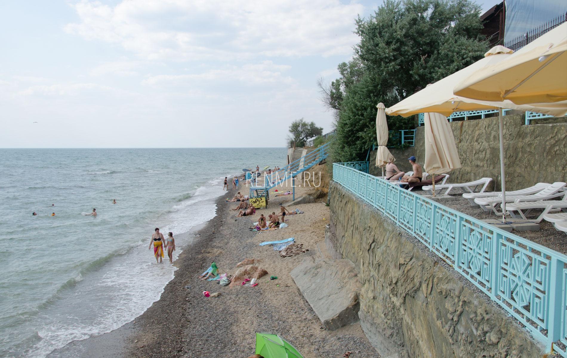 Крымский пляж Николаевки. Фото Николаевки