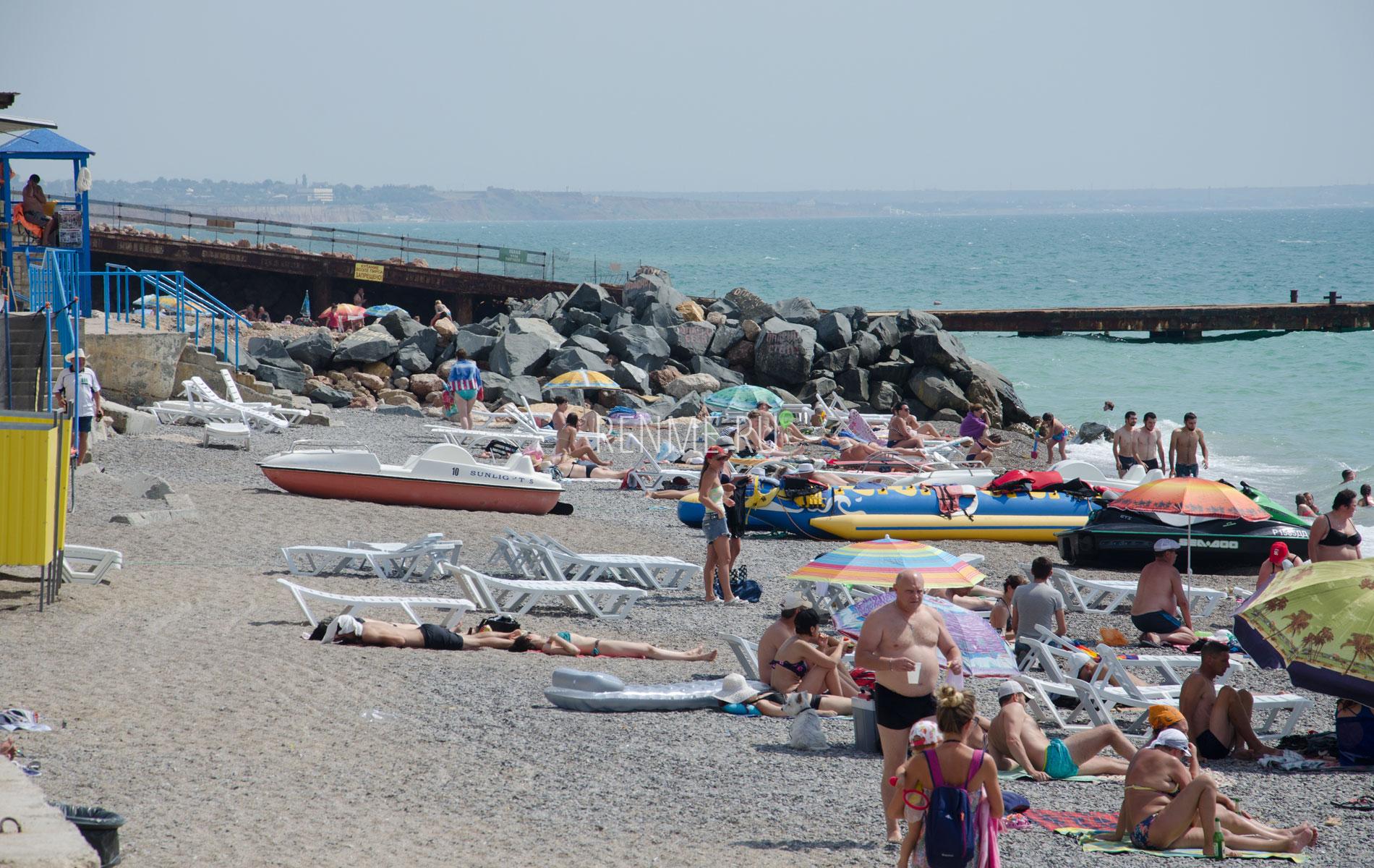 Николаевский поселковый пляж. Фото Николаевки