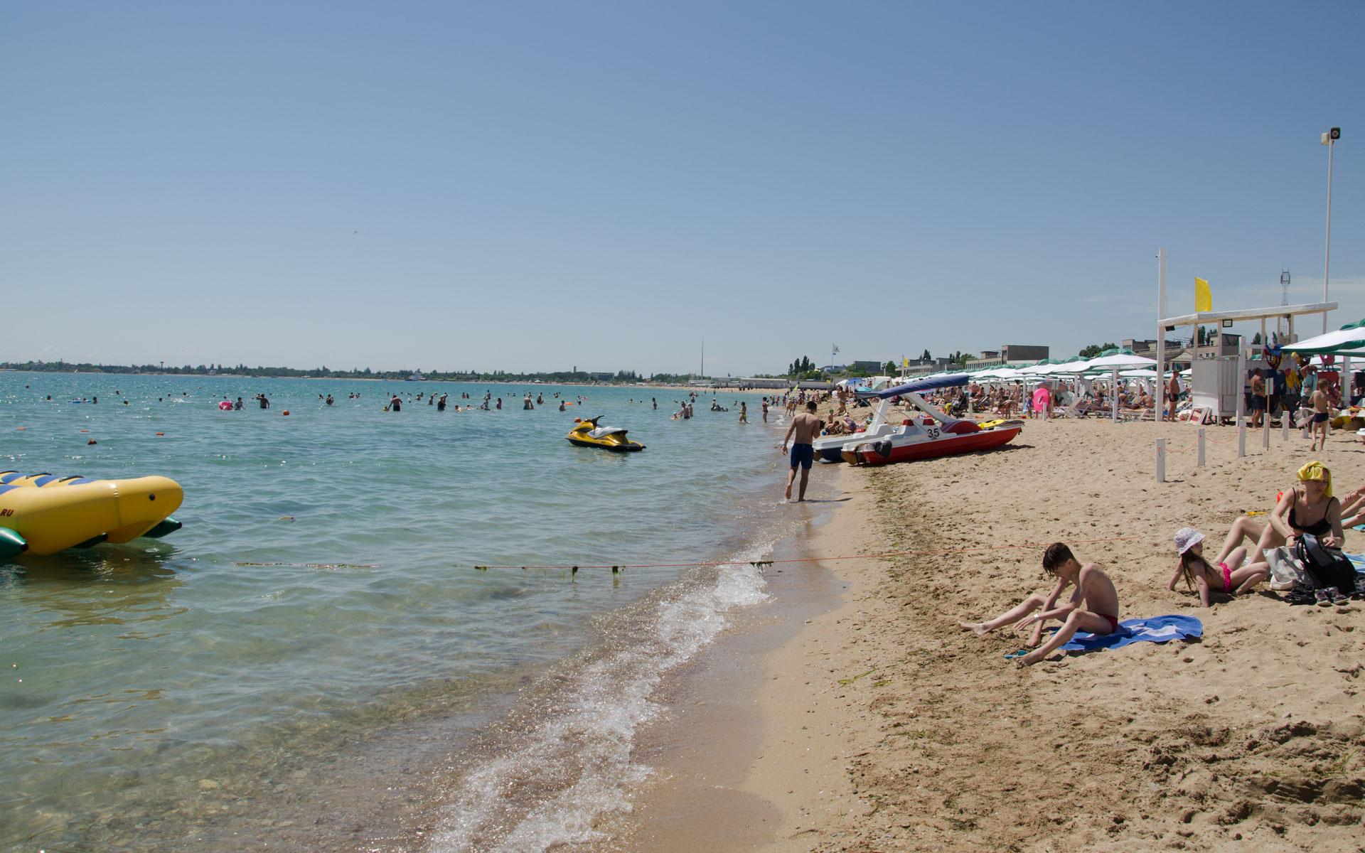 Пляжи между Евпаторией и Заозёрным. Фото Евпатории