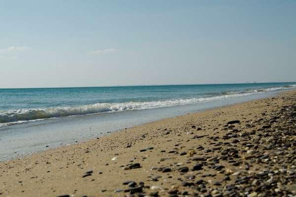 """Пляж """"Прибой"""" в апреле 2019. Фото Сак"""