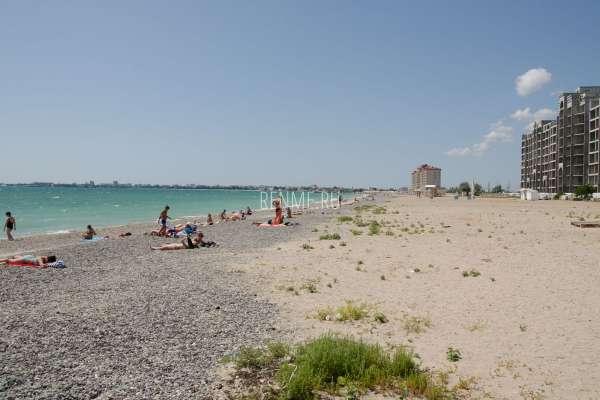 Дикий пляж на ул. Симферопольская. Фото Евпатории