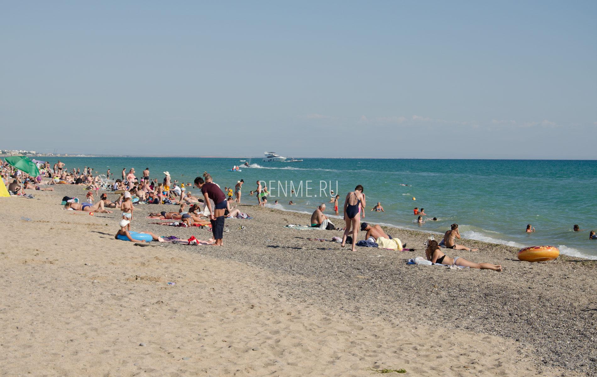 Море пляж Прибрежное. Фото Прибрежного