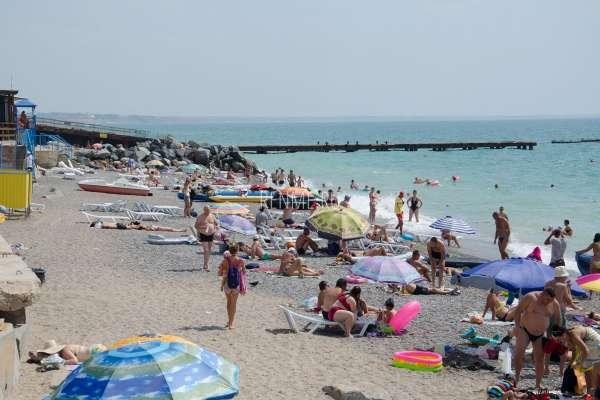 Поселковый пляж Николаевки. Пляжи Николаевки