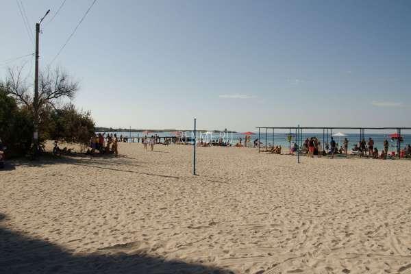 Песчаный пляж на Тарханкуте. Фото Черноморского