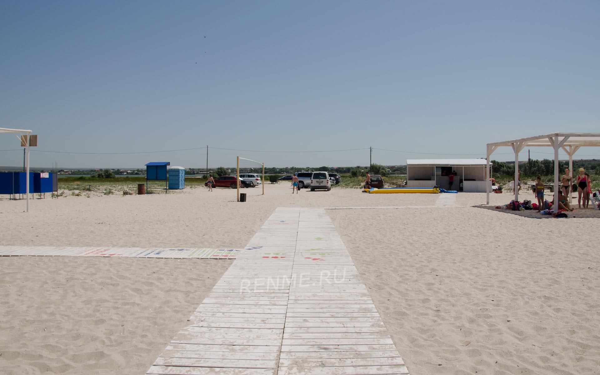 Чистый пляж. Фото Оленевки