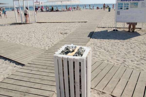 Песчаный пляж Межводного летом. Фото Межводного