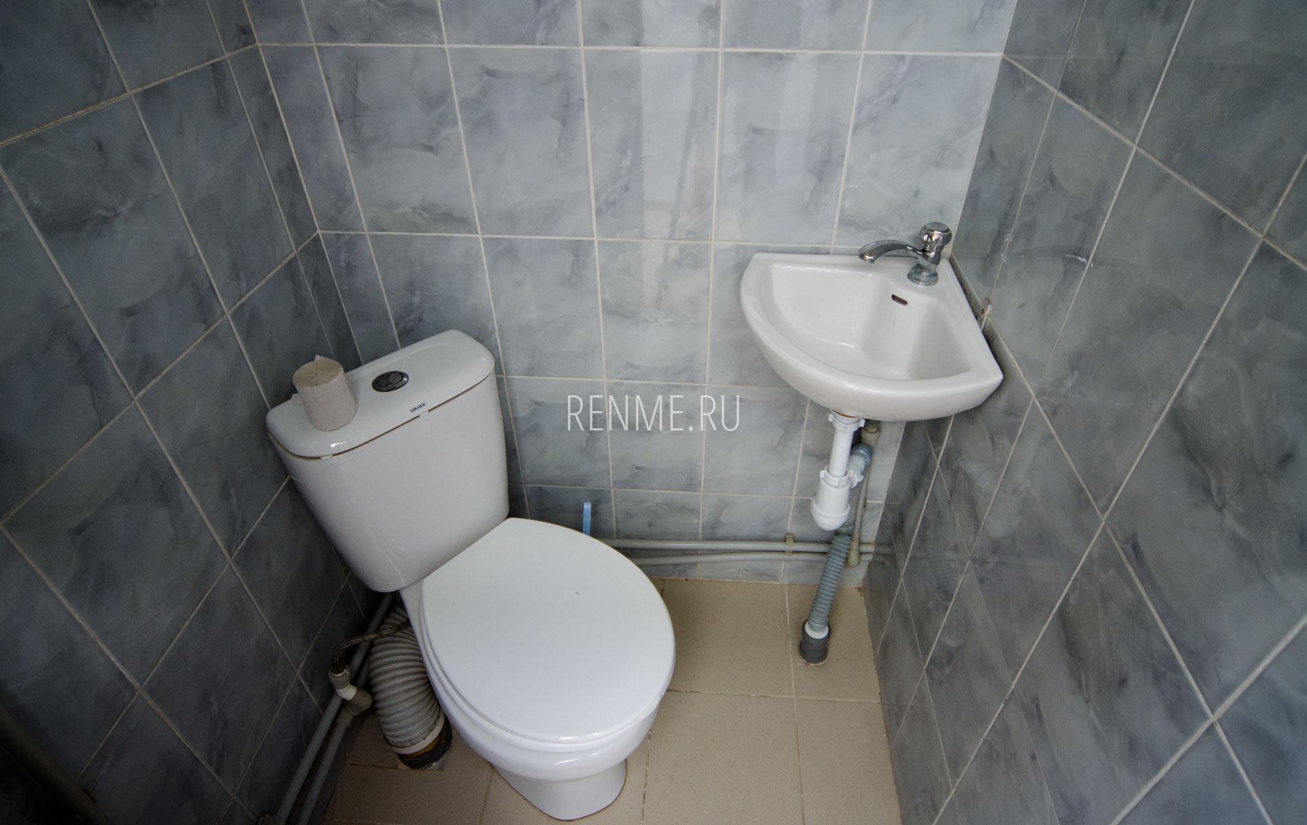 Туалет на два номера. Простой на 3 человека. Гостевой дом на Чкалова. Заозёрное