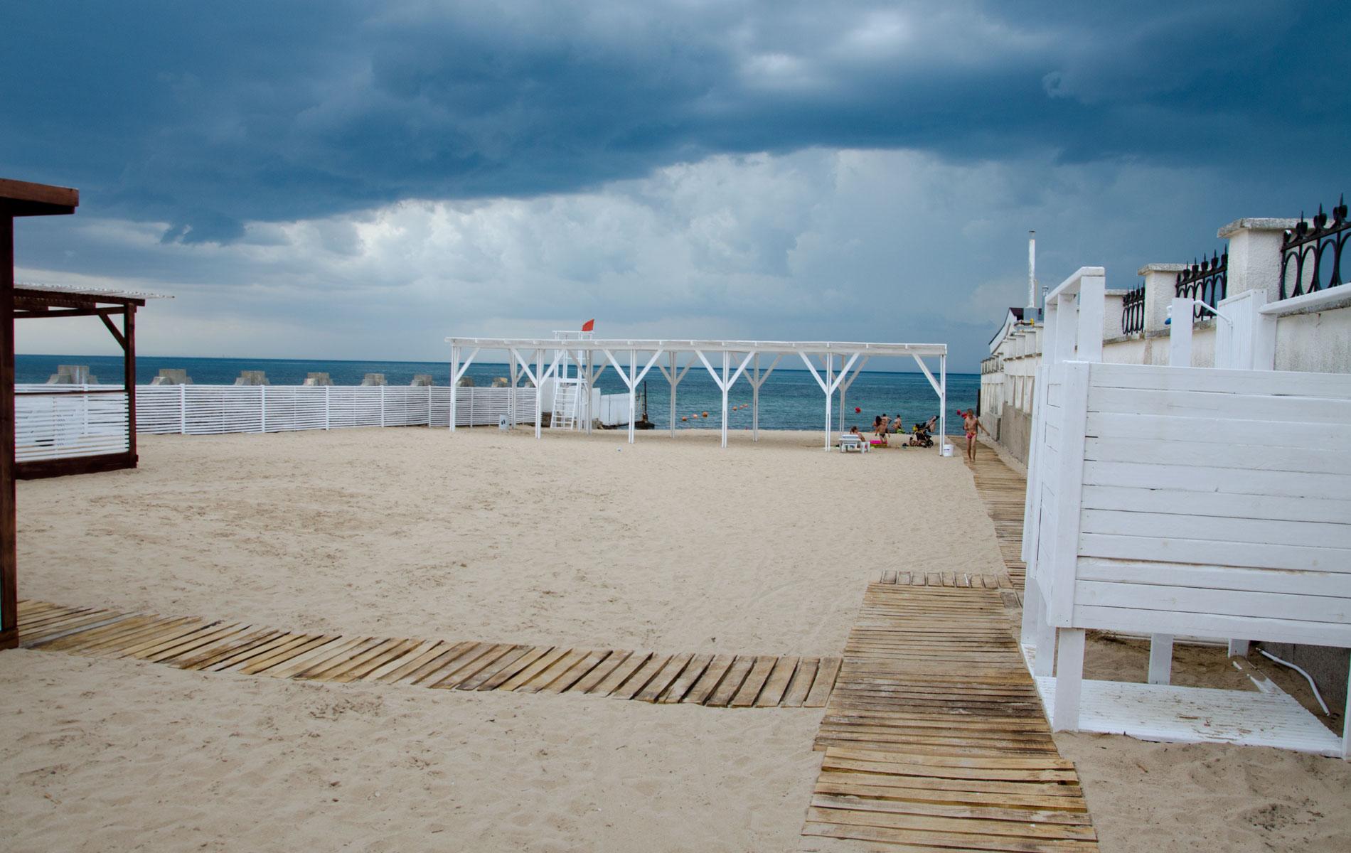 """Пляж """"Аркадия"""". Фото Заозёрного"""