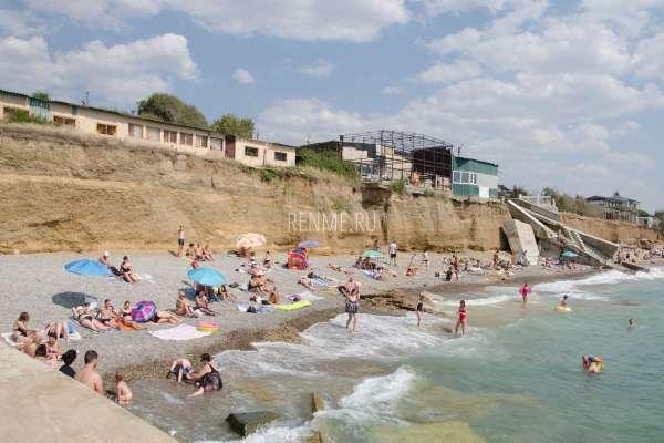 Галечный пляж. Пляжи Николаевки