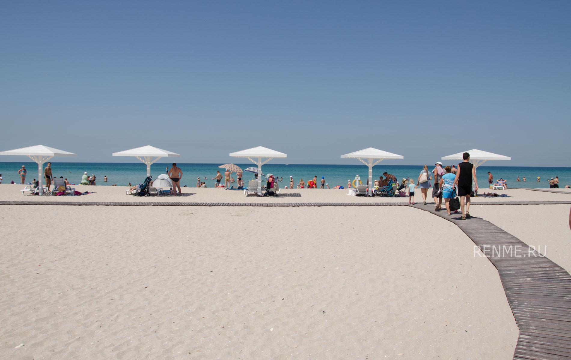 Фото пляжа в Оленевке. Фото Оленевки