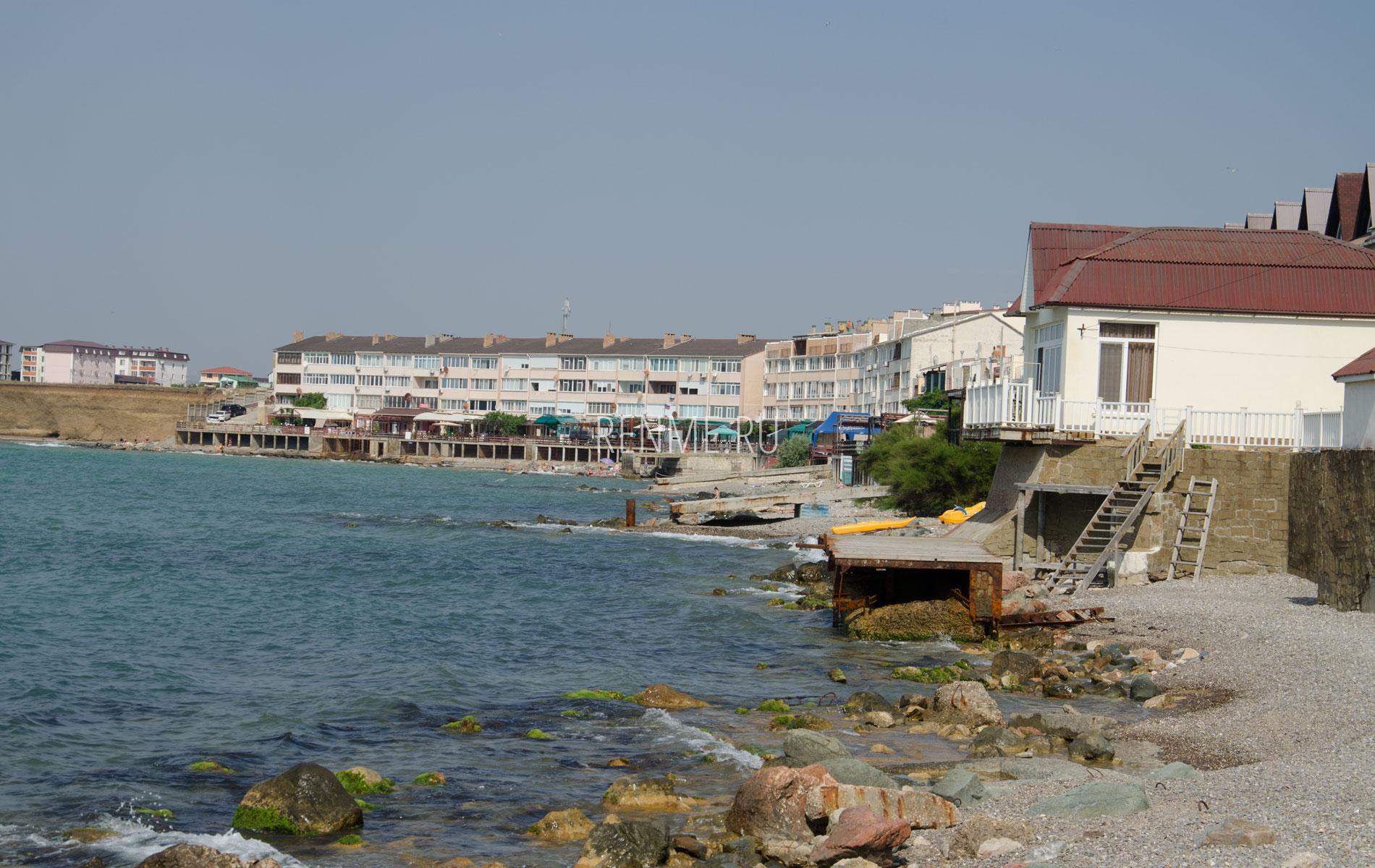 Эллинги на море. Фото Николаевки