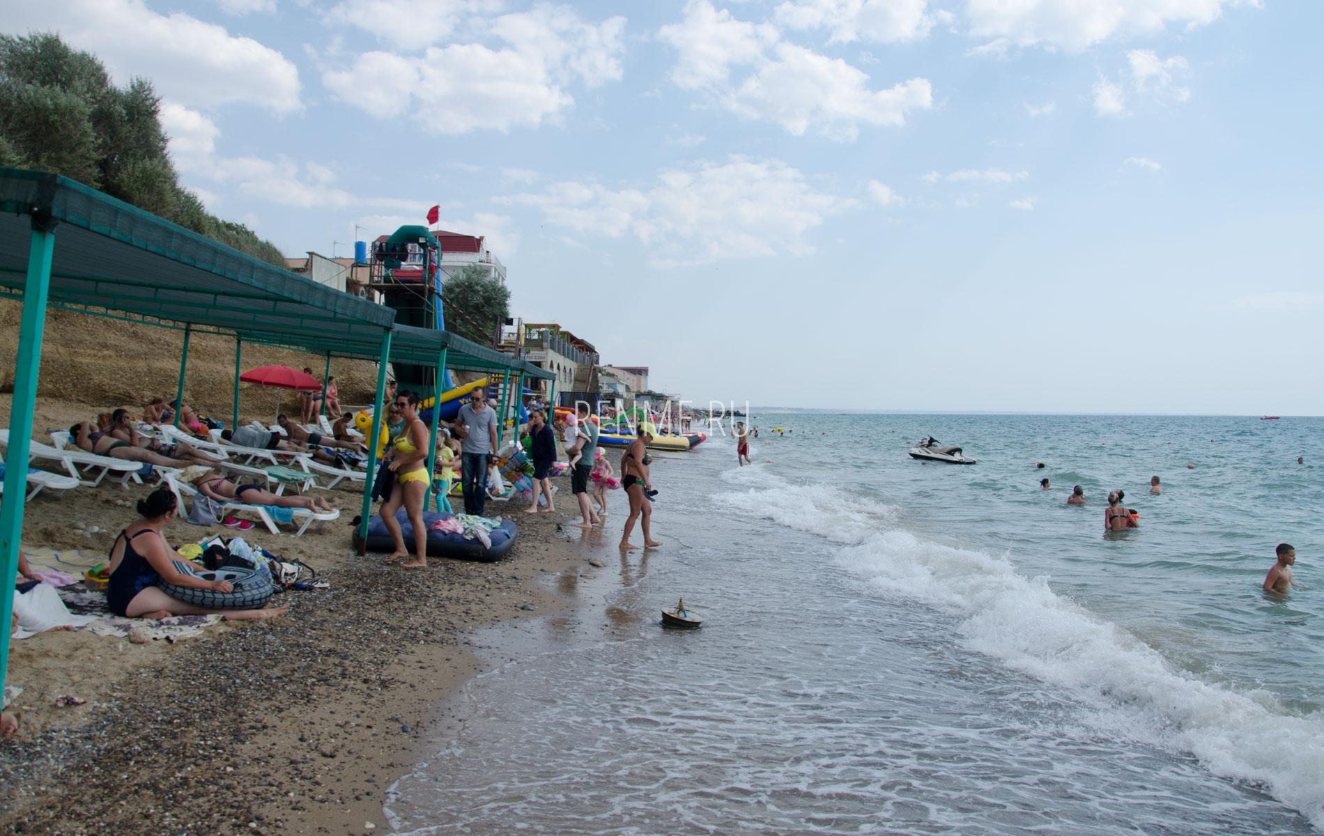 Пляжи Западного Крыма в Николаевке. Фото Николаевки