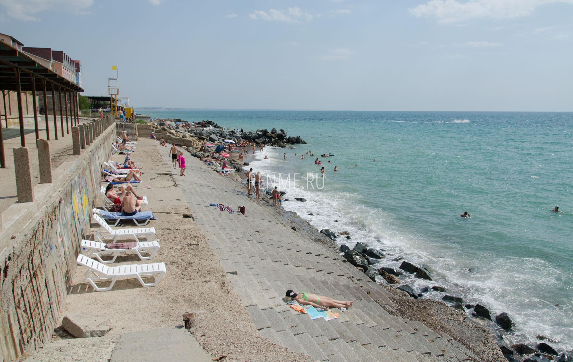 """Пляж """"Парус"""" летом. Фото Николаевки"""