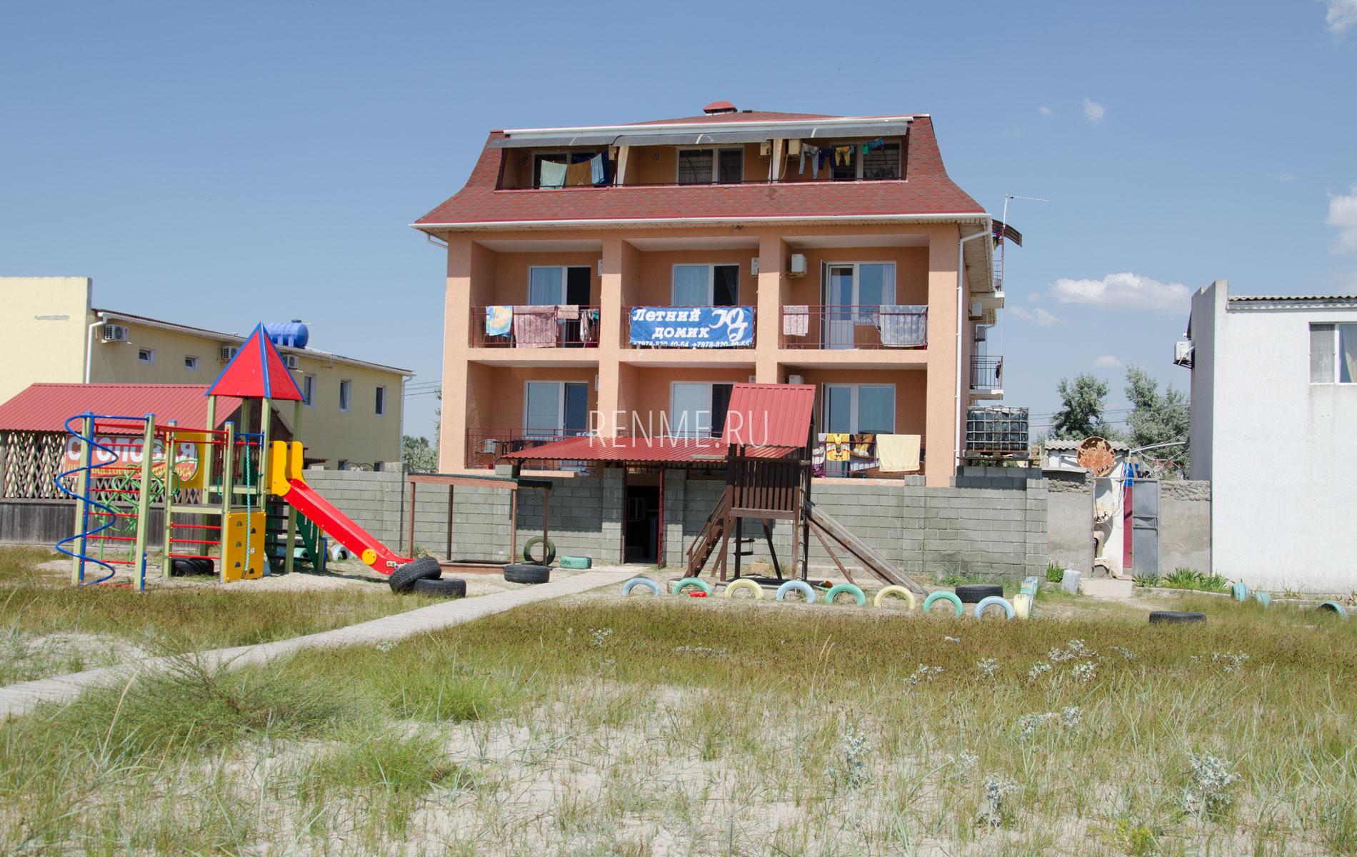 Отель на пляже в Штормовом. Фото Штормового