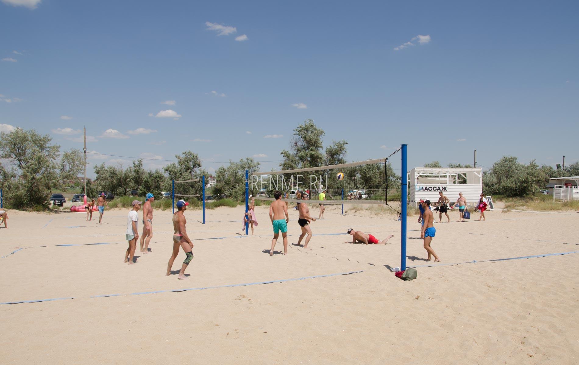 Пляжный волейбол в Заозёрном. Фото Заозёрного