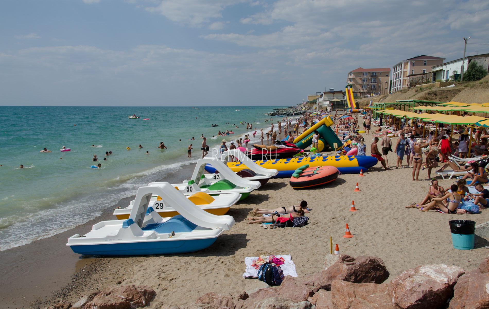 Отдых на пляже в Николаевке. Фото Николаевки