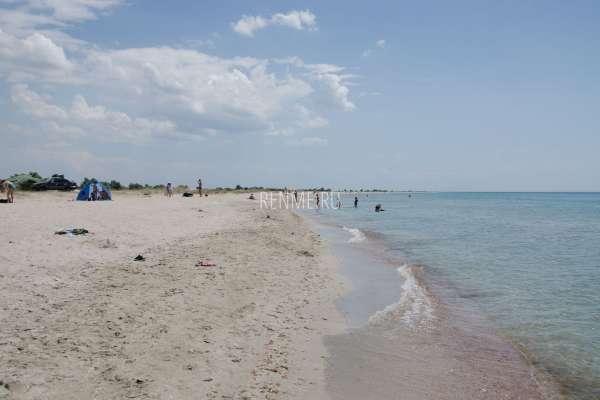 Дикий песчаный пляж в Штормовом. Фото Штормового