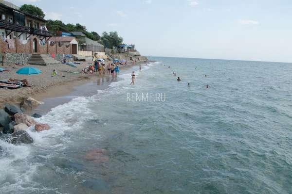 """Пляж """"Маяк"""" летом. Фото Николаевки"""