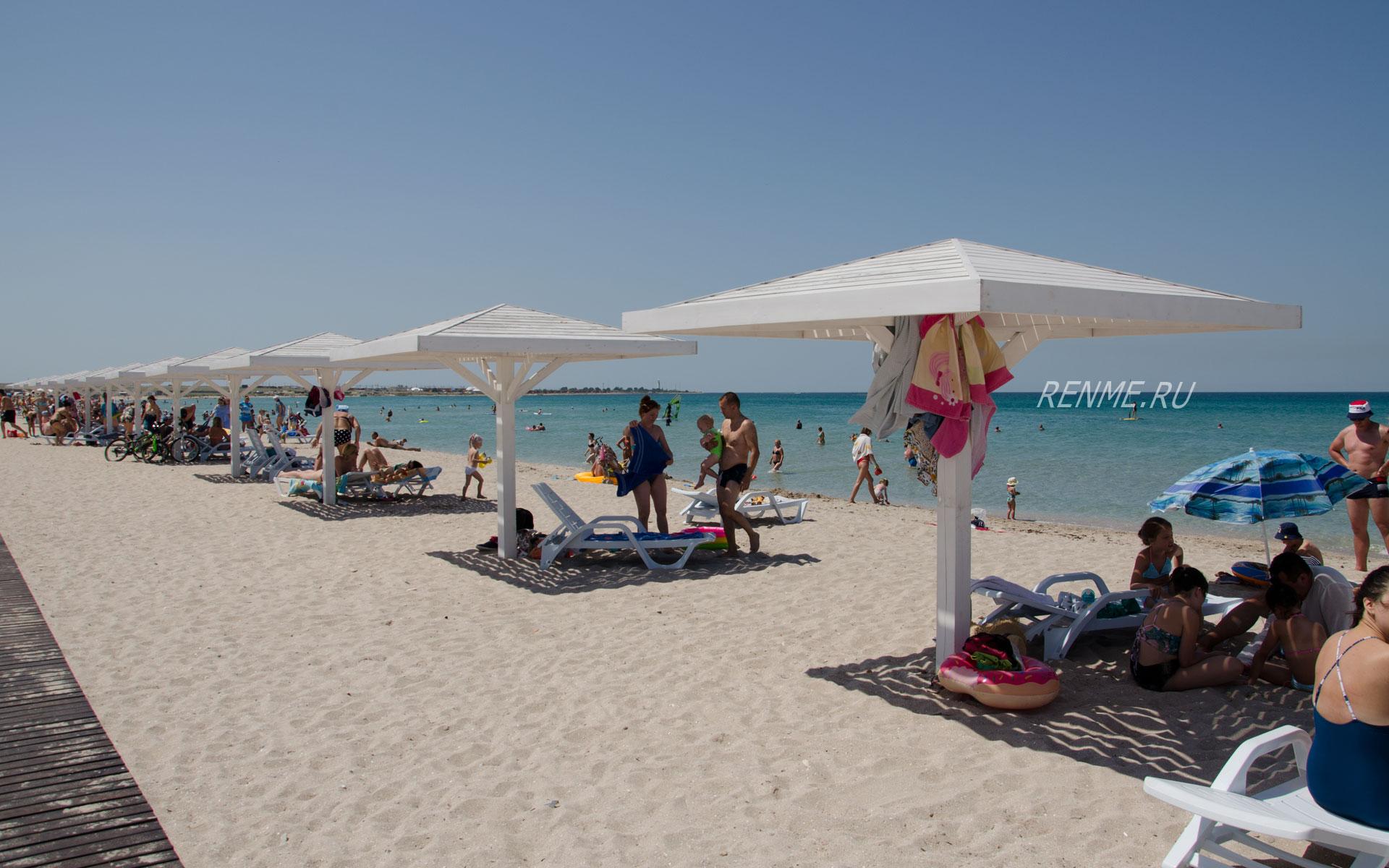 Оленевка, песчаный пляж. Фото Оленевки