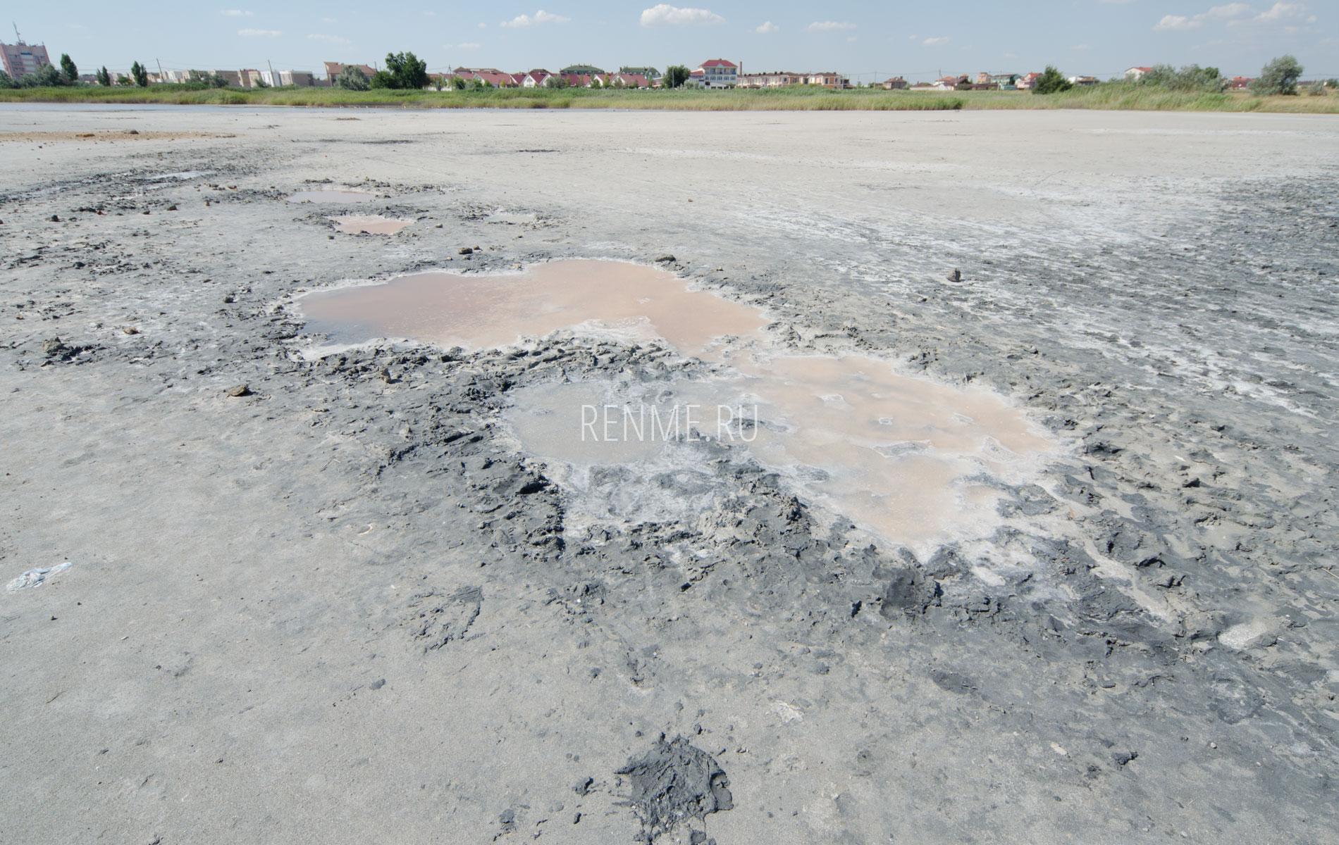 Лечебная грязь на озере в Заозерном. Фото Заозёрного