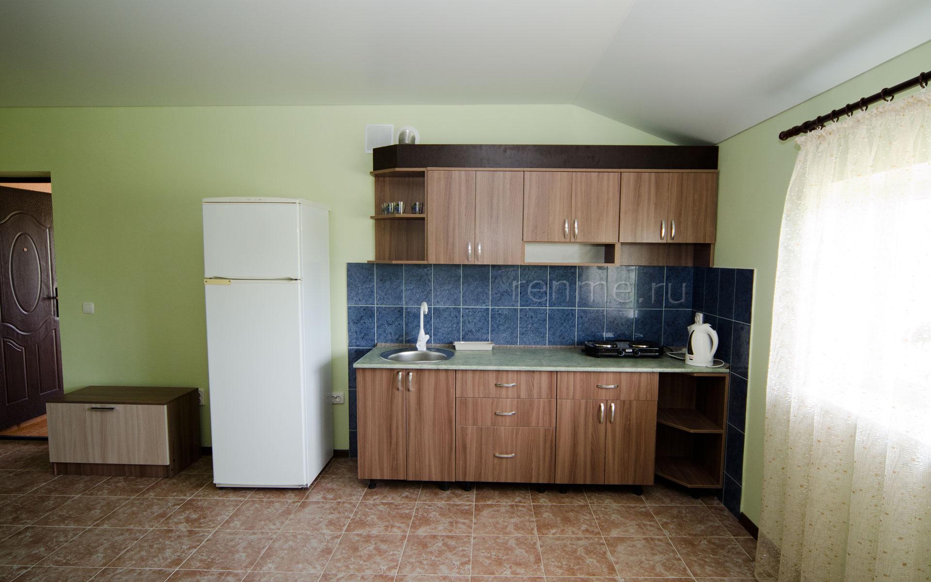 Кухня-студия. Двухкомнатная квартира-студия. Апарт-отель на ул. Гайдара. Заозёрное