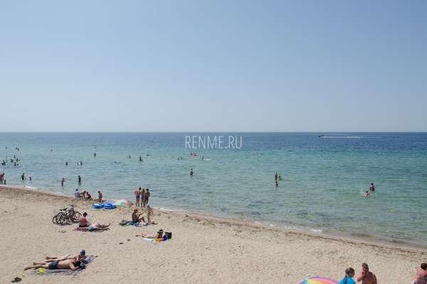 Пляж и море на дачах. Фото Заозёрного