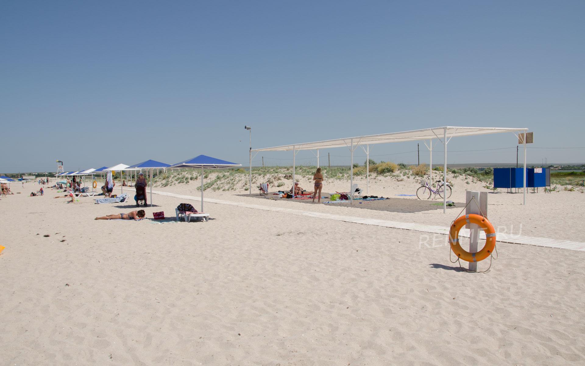 Лучший пляж юга России. Фото Оленевки