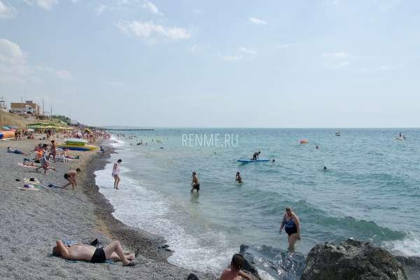 Крым. Море и пляж в июне 2019. Фото Николаевки