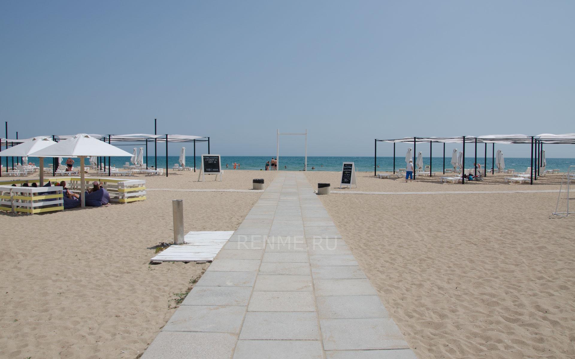 Центральный сход на пляж. Фото Заозёрного