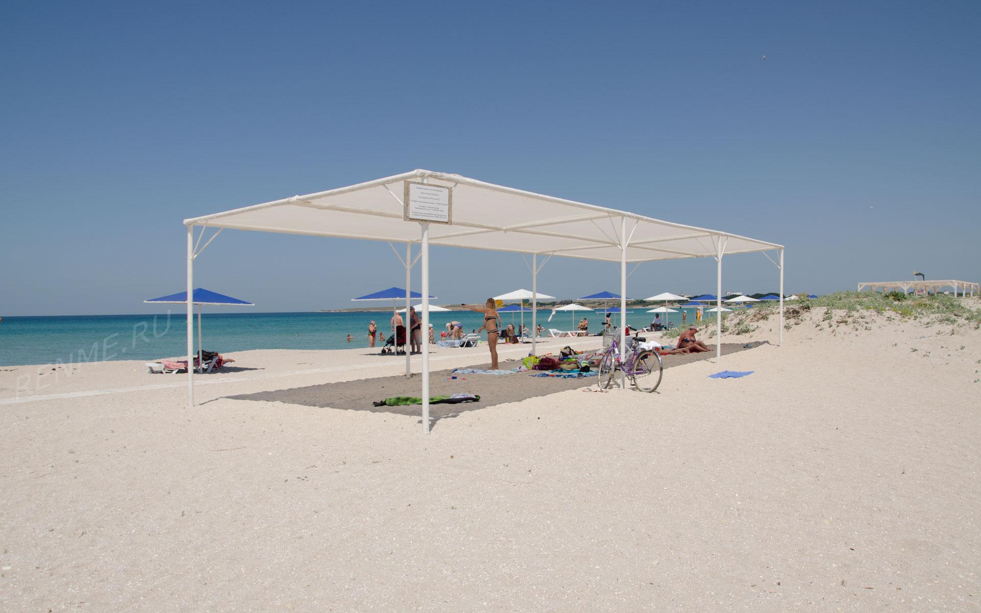 Песчаный поселковый пляж. Фото Оленевки