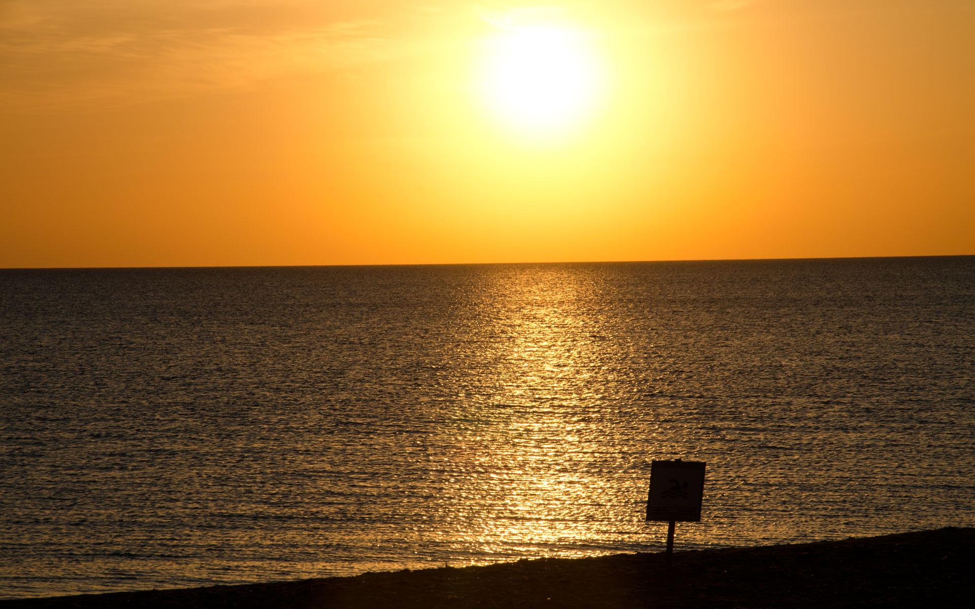 Закат в Заозерном. Фото Заозёрного